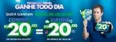 Cadastrar Promoção Gillette Ganhe Todo Dia - 20 Reais Bônus de Celular