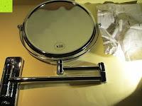auspacken: Jeking 8 Inch Spiegel Doppelseitiger 1-Fach /10-Fach Vergrößerung Chrom Schlafzimmer Wand Kosmetikspiegel