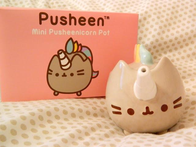 A pusheen/pusheenicorn mini tea pot or watering can