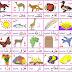 صورة تعليمية  بالحروف العربية كاملة والكلمة وعكسها  لرياض الاطفال