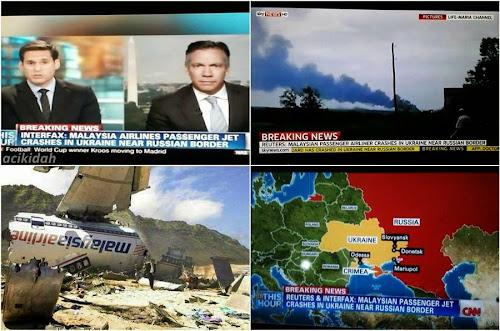 Terkini : Pesawat Malaysia Airlines (MAS) MH17 Terhempas Di Ukraine