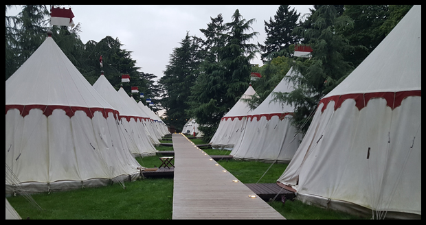 Spending the night in one of the glamping bell tents at Warwick Castle