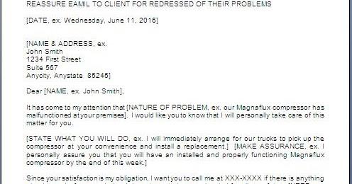 Customer Complaint Response Letter Format