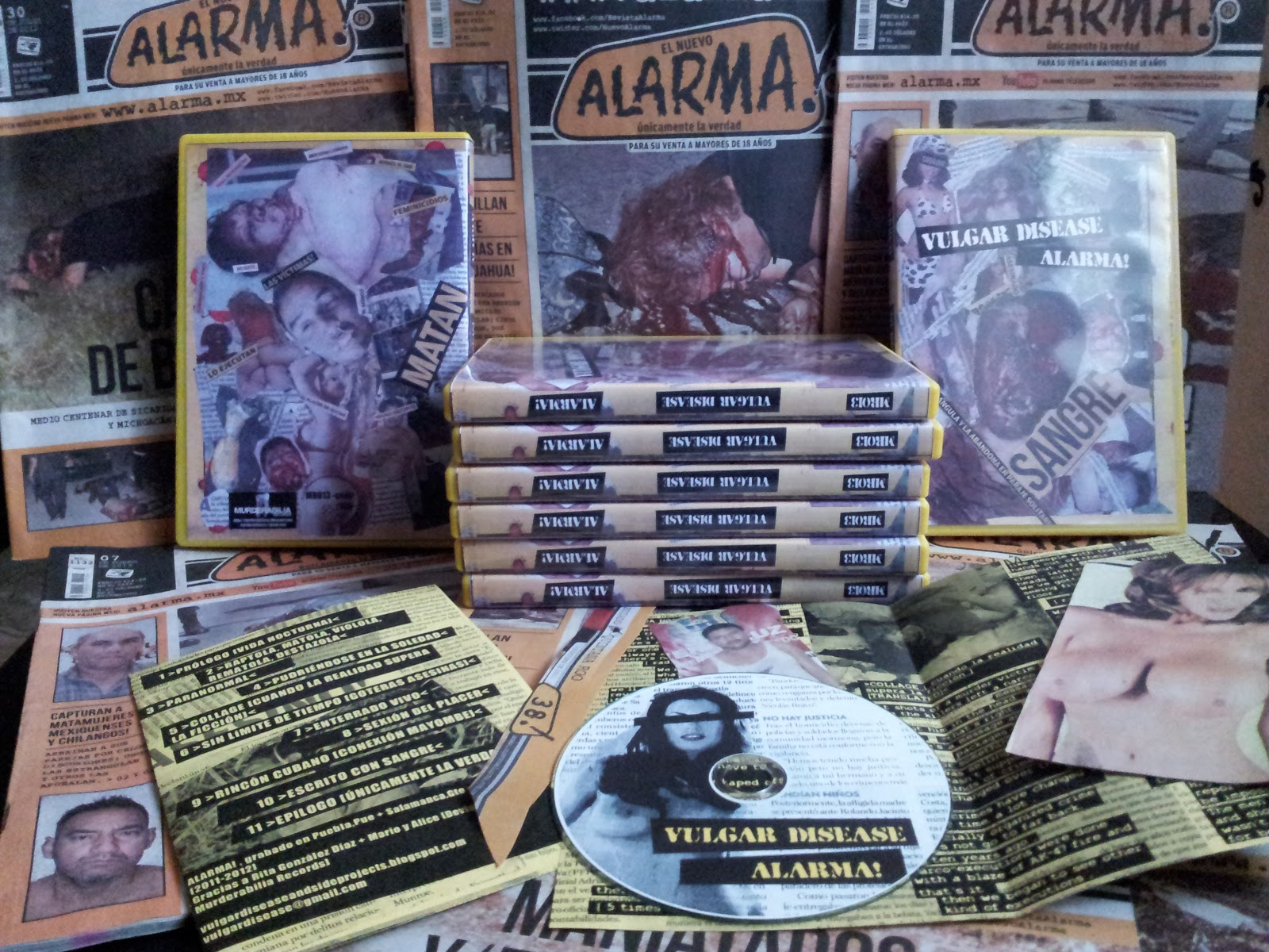 "Murderabilia Records: MR013 – VULGAR DISEASE - ""Alarma!"" CDR"