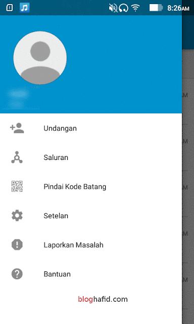 Menu profil bbm