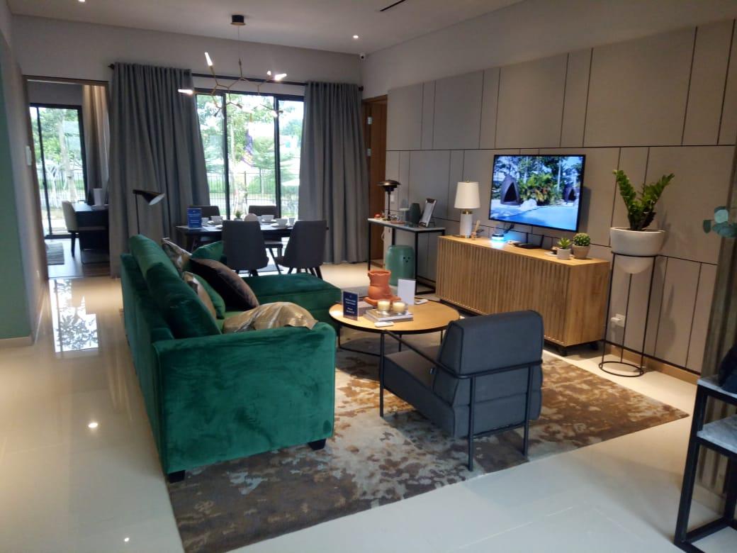 Living room Rumah Caelus BSD