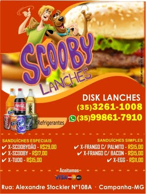 SCOOBY LANCHES - CAMPANHA