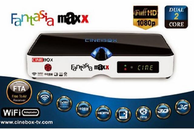 Resultado de imagem para CINEBOX FANTASIA MAXX DUAL CORE az tudo