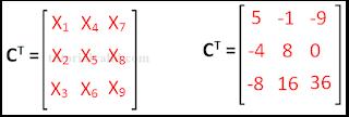Transpose cofactors matriks 3x3 contoh soal 2