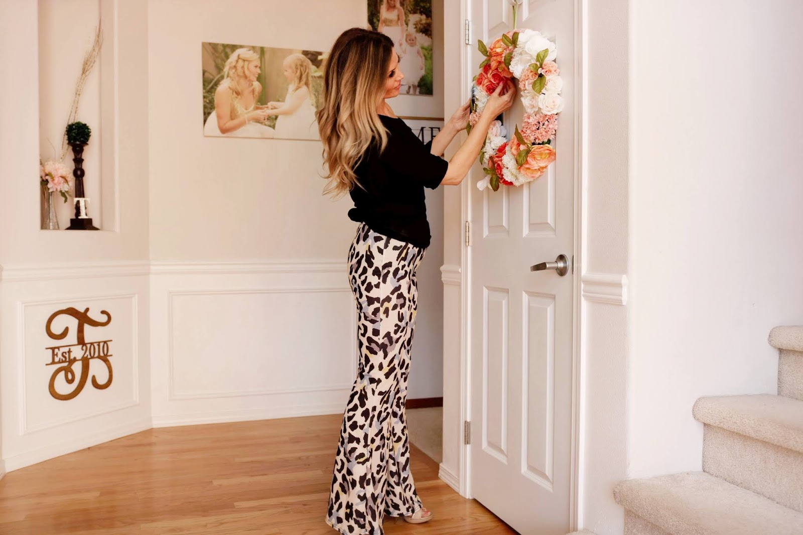 fall decor home modern house housewife peach entrance
