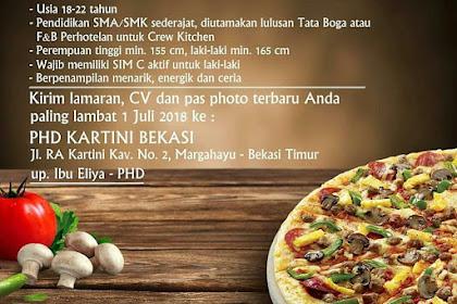 Info Lowongan Kerja Pizza Hut Delivery (PHD) Bekasi Juli 2018