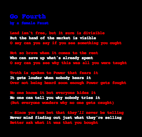 Poem for a New American Century: GO FOURTH (FINAL VERSION)