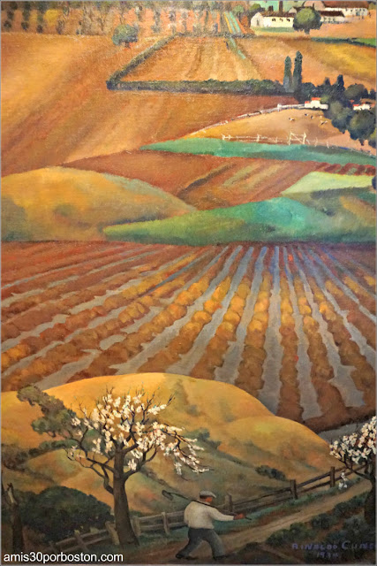 "Mural ""Bay Area Hills"" de Rinaldo Cuneo en la Torre Coit de San Francisco"