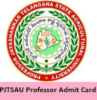 PJTSAU Professor Admit Card