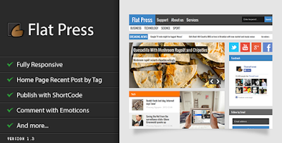 Flat Press - News/Magazine Responsive Blogger Theme