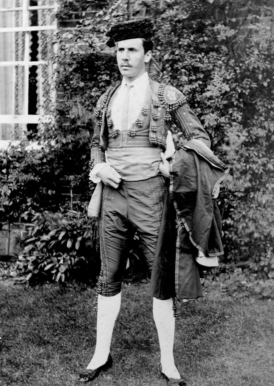 Photograph of Mr Cotton-Curtis, owner of Potterells, dressed for a production in the 1900s Image from P. Grant / G. Knott, part of the Images Of North Mymms collection