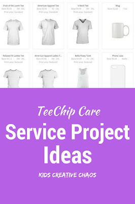 Service Projects for Teens: TeeChip Care