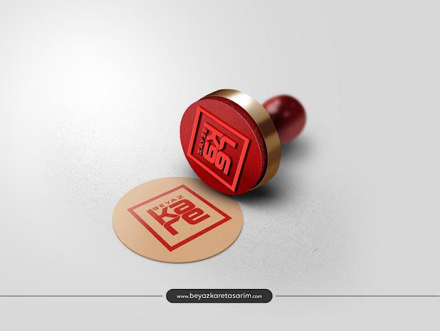 3D logo tasarımı kaşe baskı