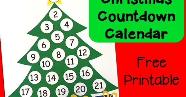 photo about Printable Christmas Calendar known as Xmas Countdown Printable Introduction Calendar Totschooling