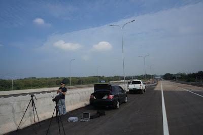 Persiapan Drone Flight untuk video udara di Interchange Cikopo Tol Cipali