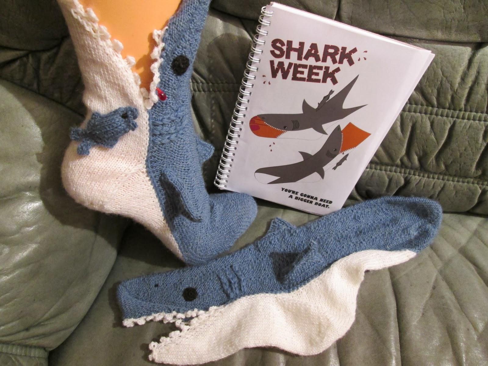 Haifisch Socken Stricken Desleutelbenjezelf Blog