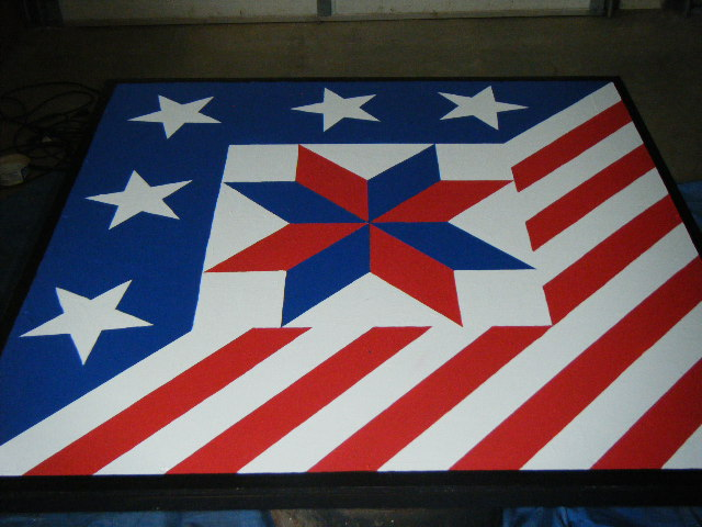 image about Printable Barn Quilt Patterns referred to as Patriotic Barn Quilt Practices