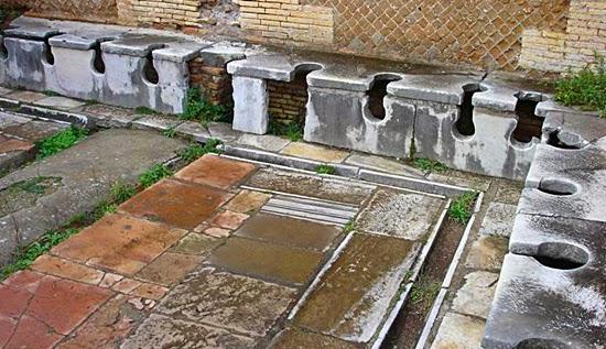 A história do banheiro - Roma antiga