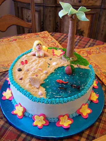 beach birthday cake 2016
