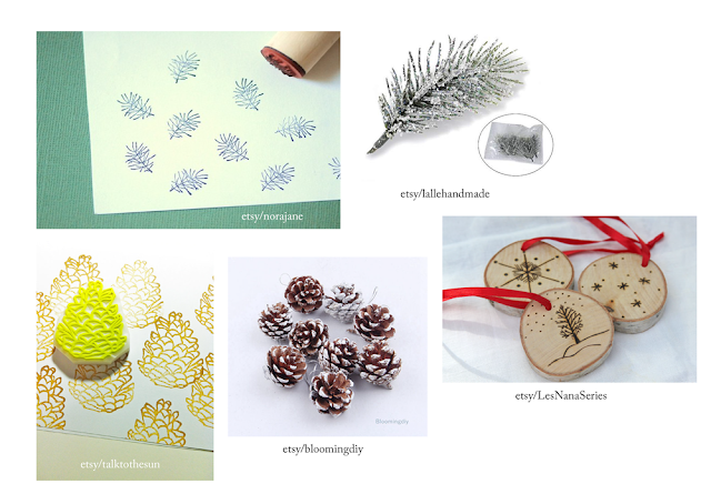 Pimp it up with nature ornaments and stamp - eco-friendly gift packing essentials
