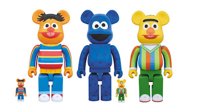 Sesame Street Be@rbrick Vinyl Figures by Medicom Toy