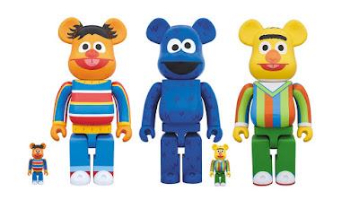 Sesame Street Be@rbrick Vinyl Figures by Medicom Toy