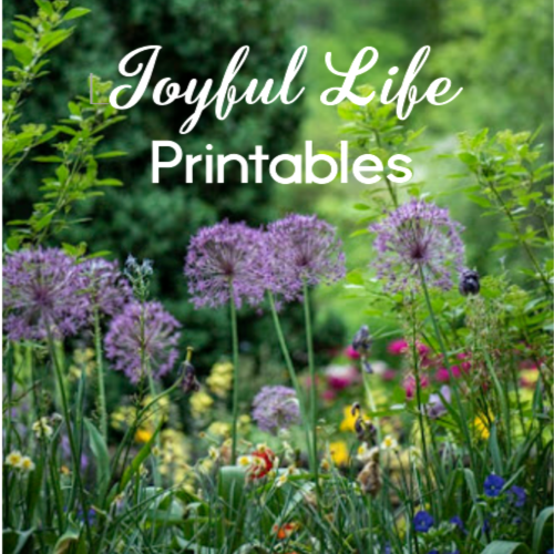 My Etsy Shop: Joyful Life Printables