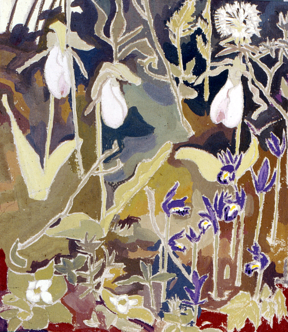 Brian Sloan, artist, painting, art, acrylic paint, Bog Garden