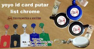 yoyo id card putar lis Baru, YOYO KAIT PUTAR, Badge Reels, Yoyo List, yoyo gantungan id card yang bisa diputar 360 derajat, Yoyo id card list dengan logo resin dimana Penjepit Bisa Diputar 360 Derajat