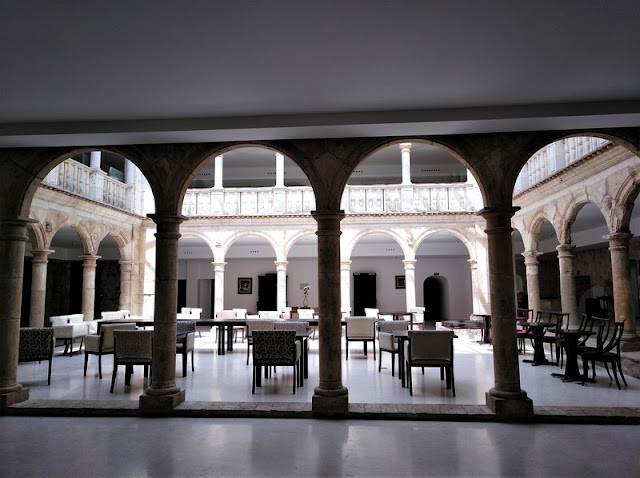 Belmonte, patio del Palacio del Infante D. Juan Manuel