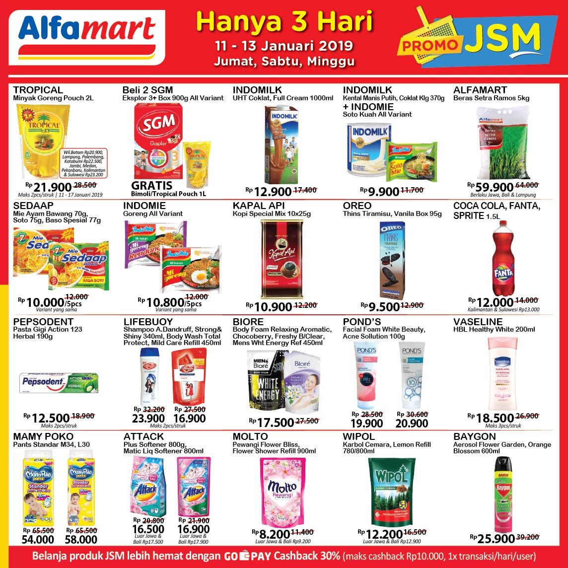 #Alfamart - #Promo #Katalog #JSM Periode 11 - 13 Januari 2019