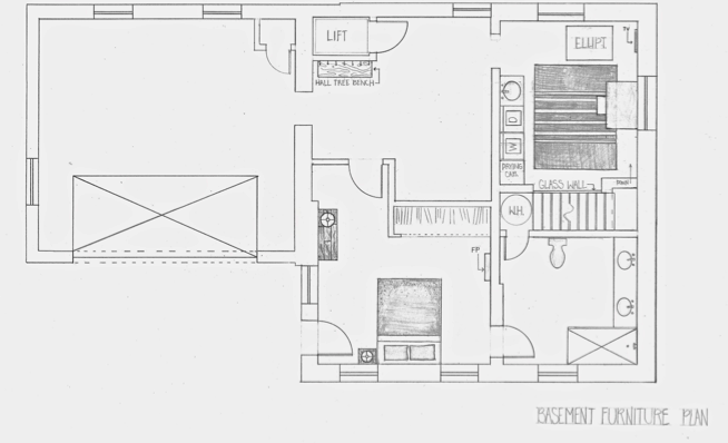 Courtney lane residential studio project a modern - Hand drafting for interior design ...
