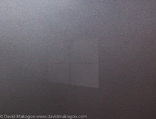 A subtle Windows logo etched into the kickstand.
