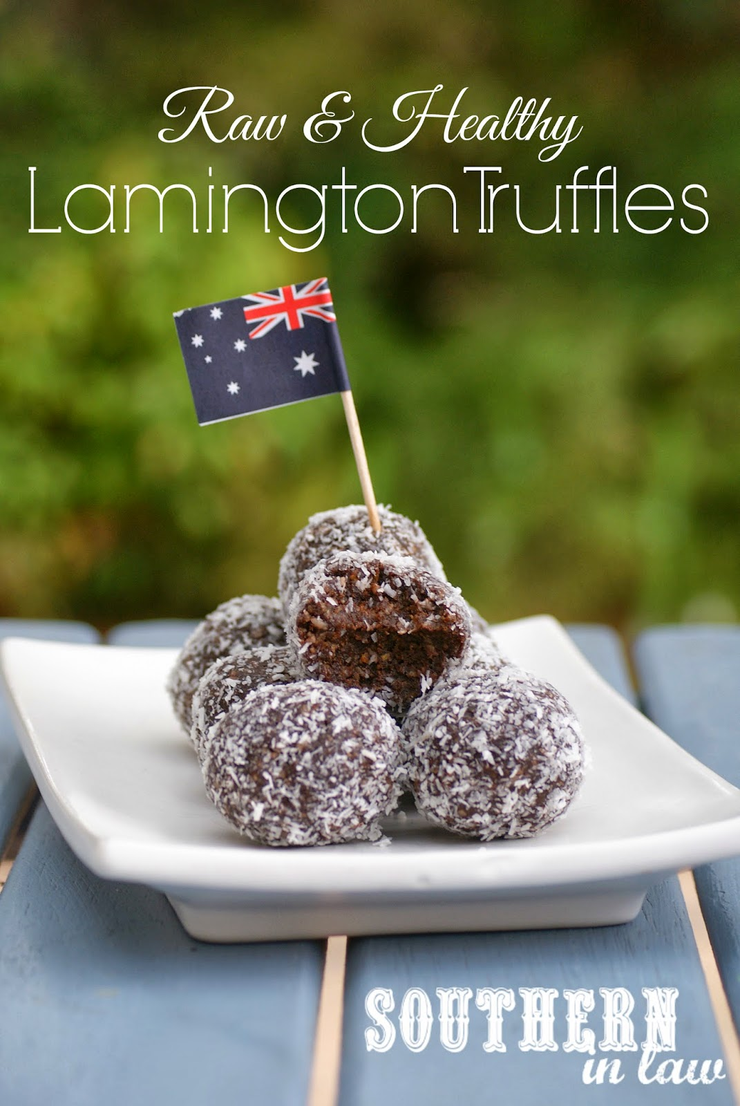 Raw Lamington Truffles - Raw Chocolate Coconut Date Bites - Gluten free, sugar free, vegan, clean eating friendly recipe