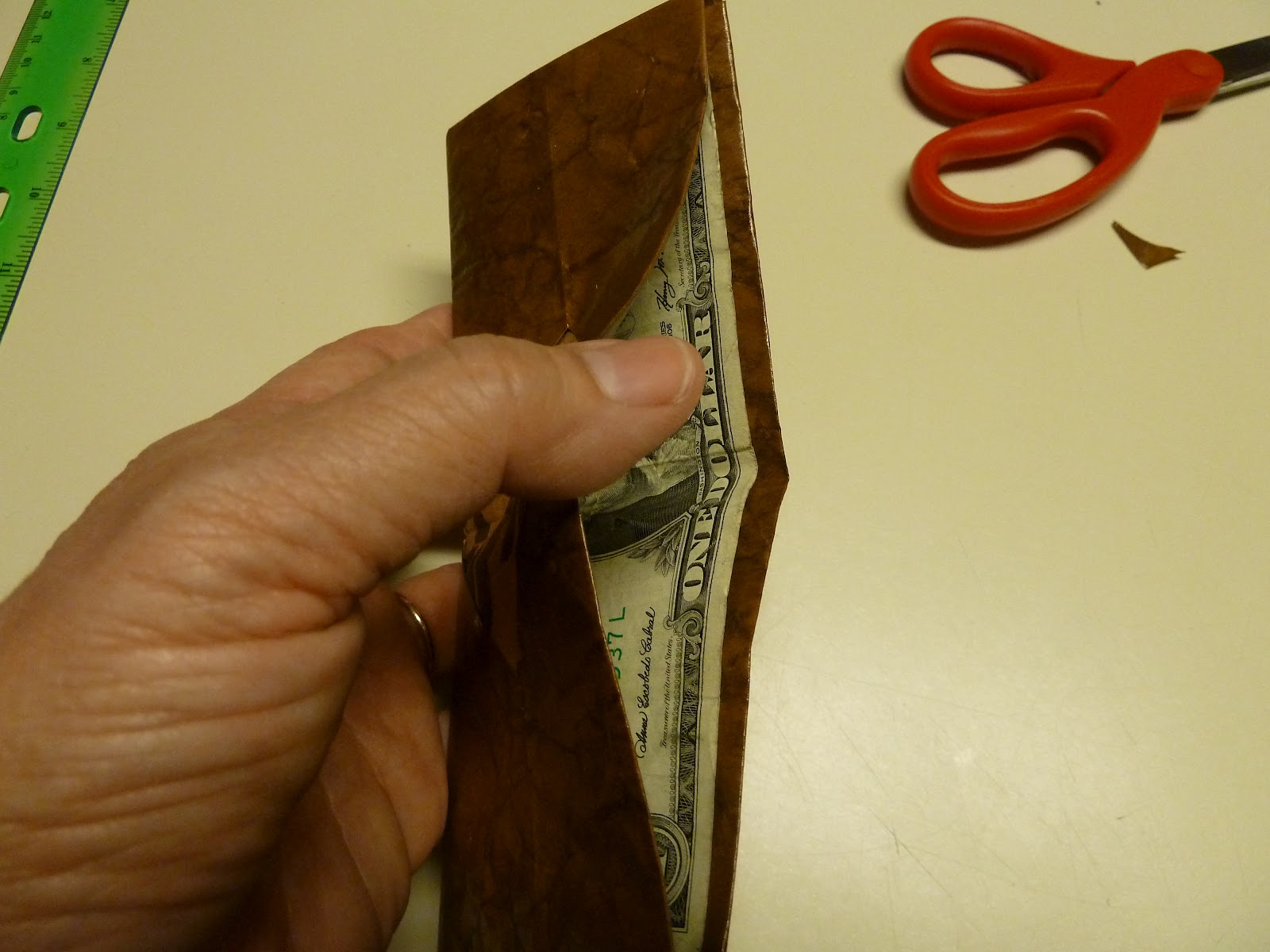 Make It Easy Crafts Leather Like Brown Paper Bag Origami