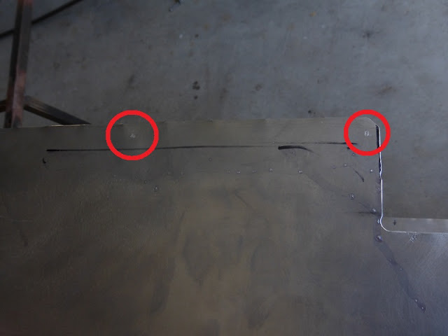 transferring rivet locations to sheetmetal