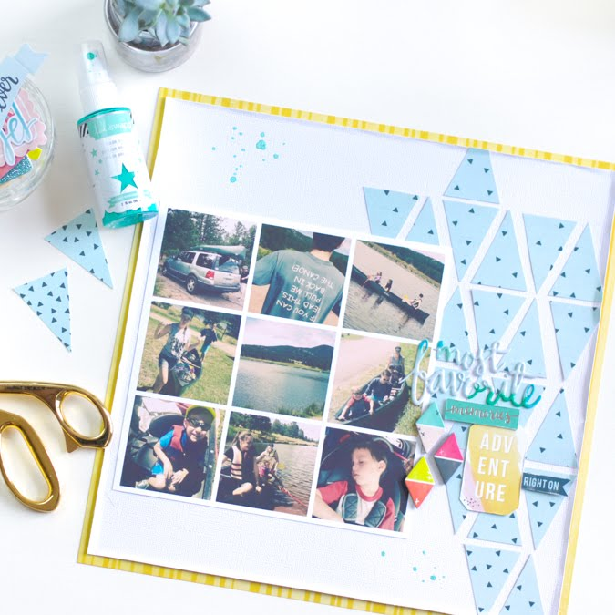 Triangular Fun - Create a triangle background with Pink Paislee Fancy Free paper. | @jamiepate for @pinkpaislee