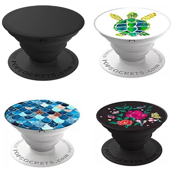 a variety of pop socket phone holders as stocking stuffers for women