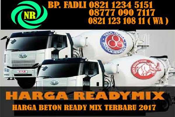 HARGA READY MIX, HARGA BETON READY MIX, HARGA BETON COR READY MIX PER M3 2018
