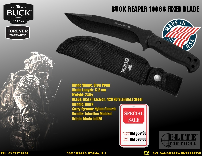 New Arrival 2016!! Buck Reaper Fixed Blade @ RM 590