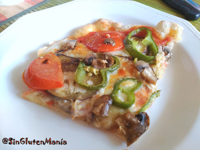 PIZZA SIN GLUTEN: MASA FINA Y BORDE CRUJIENTE