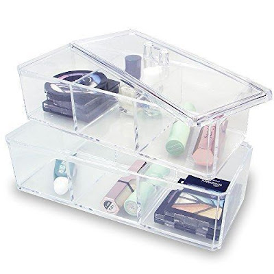 Shop the Two Layer Acrylic Makeup Organizer Box at Nile Corp