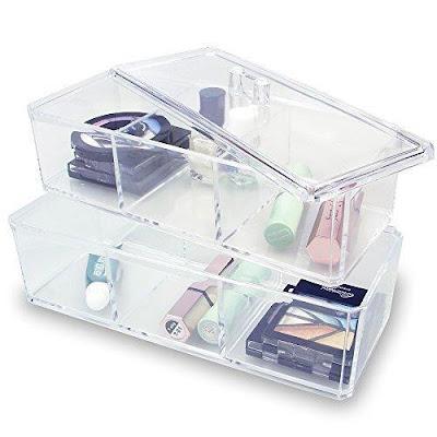 Shop the Two Layer Acrylic Makeup Organizer Box at Nile Corp