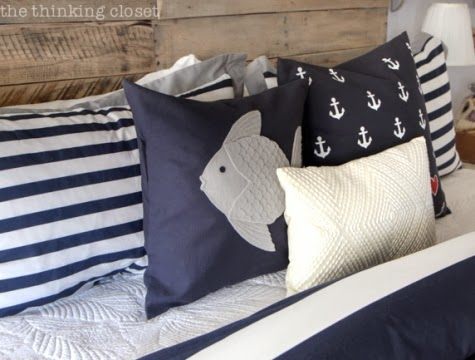 diy nautical anchor stencil pillow