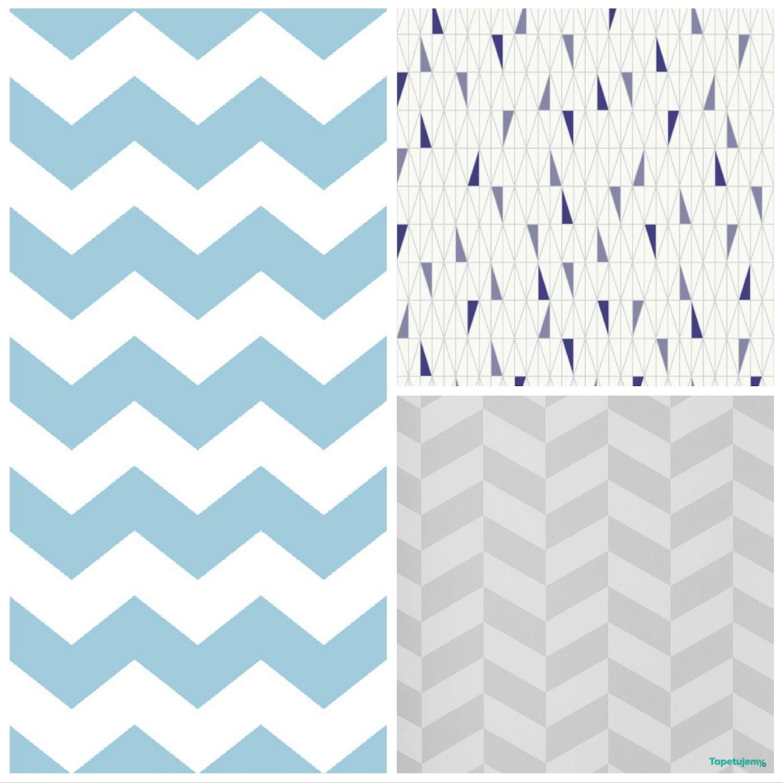 trójkąty, pastelowe wzory